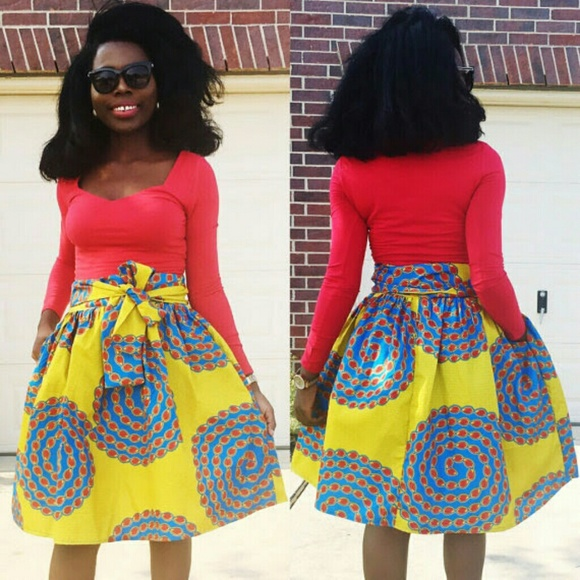 692712e40 Veroex Skirts | Women African Print Knee Length Pleated Skirt | Poshmark